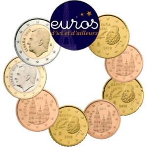 Série 8 pièces ESPAGNE 2021 - Série 1 cent à 2 euros - Qualité UNC