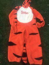 Disney Store Deluxe Tigger Adult Size LARGE Winnie Pooh Plush Full Zip Costume