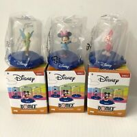 Disney Domez Minis Series 2 Minnie Mouse Tinkerbell Piglet Collectibles Lot of 3