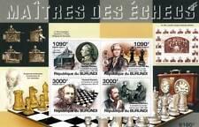 Campeones del mundo de ajedrez/hoja De Sellos Grandes Maestros #1 de 5 (2011 Burundi)