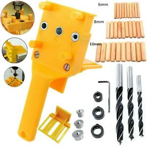 Woodworking dowel hole drilling template Drilling Aid Hole Plugs Lesson Guide Jig