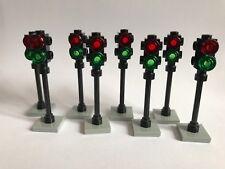 8 Lego semáforo Rojo/Verde - 40 piezas en total-Excelente para la Carretera Lego ciudad