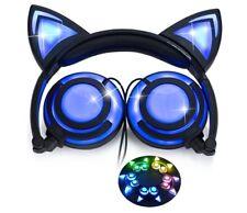 iPURR: Cat Ear Headphones Rechargeable LED Light Up over the ear black