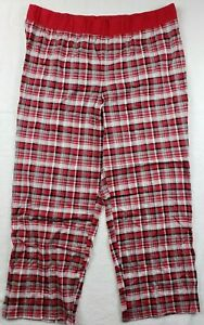 Cacique Simply Lane Bryant Red Plaid Pajama Bottoms Sz 22/24 NWOT