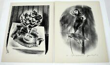 1939 YASUO KUNIYOSHI Lithographs Set of 2 Signed in Plates Am Artist Prints