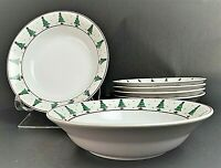 "Set of 6 SAKURA Debbie Mumm Magic of Santa Stoneware Cereal Soup Bowls 7 1/2"""