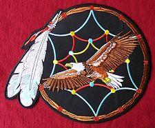 XXL Aufnäher Adler Mandela Eagle Motorrad Indianer Biker Rider Kraft Tier Patch