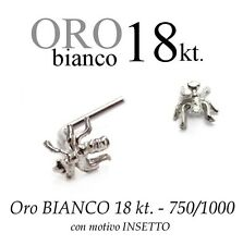 Piercing naso nose ORO BIANCO 18kt. con INSETTO formica white GOLD with INSECT