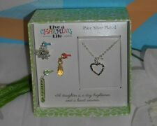 """Live A Charming Life """"Daughter"""" Pure Silver Plated Chain + Charms NEW"""