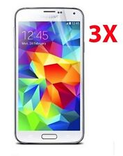 3 Pack Clear LCD Screen Protector Cover Guard Films for Samsung Galaxy S5 I9600