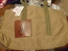 JW ANDERSON TOTE BAG MEN'S UNISEX KHAKI BROWN ANCHOR COTTON SHOULDER HANDBAG NEW