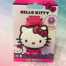 Hello Kitty 2017 Flip Style Collectible LCD Watch Rhinestone Bow ≧◠ᴥ◠≦
