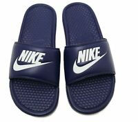 NIKE BENASSI JDI  Navy/Windchill Men's Slide Sandal 343880 403  Fast ship  O