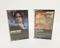 Jim Croce Photographs and Memories & James Taylor Sweet Baby James Cassette Tape