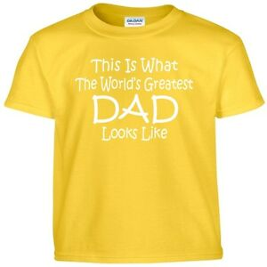 Worlds Greatest DAD T Shirt Fathers Day Birthday Christmas Gift Daddy Tee Shirt