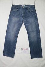Levi's 501 usato (Cod.M2087) W36 L30 denim jeans dritto vintage