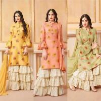 Indian Print Salwar Kameez Suit Sharara Plazzo Shalwar Designer Pakistani Wthic
