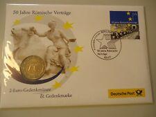 DEUTSCHLAND 2007 G - Numisbrief mit 2 Euro - 50 Jahre Römische Verträge