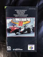 F-1 World Grand Prix 2 - Nintendo 64 - Instruction Booklet - N64.