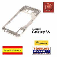 CARCASA TRASERA MARCO GOLD DORADO CHASIS PARA SAMSUNG GALAXY S6 SM-G920F G920