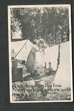 1922 a washout on the line doesn't romantic post card Climax MI to Cortland NY