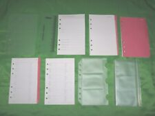 Compact 1 Year Undated Refill Pink Tab Lot Day Runner Planner Franklin Covey