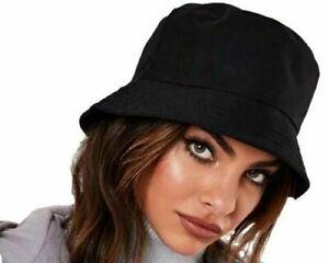 Bucket Hat Black Rainproof Women's Men's Outdoor Fashion Waterproof