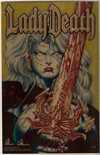 Lady Death #1. 20th Anniversary Edition. Ltd 6/20. Metal w/Crystals. Hughes Art.