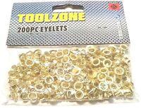 200PC Brass Eyelet Set 8MM DIAMETER  4MM INNER Hole Makers Leather Eyelets PL231