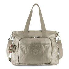 Kipling Miri Diaper Bag Metallic Pewter NEW NWT $169