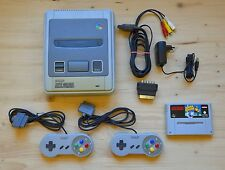 SNES - Super Nintendo Konsole mit 2 Controller + Super Soccer (guter Zustand)
