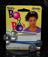 Goody Baby Bo Bo's Pair Hair Elastic Hair Accessories 1997 White Blue NOC