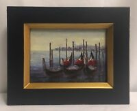 """Oil Painting Framed 8"""" x 10"""" Boats"""