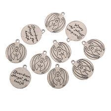 guardian angel for health Tibetan Silver Bead charms Pendants fit bracelet 10pcs