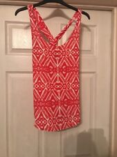 Womens Vest Top Red & White Jane Norman Size 10 New With Tags