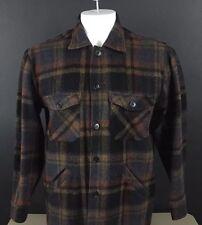 Vintage Deacon Brothers Wool Work Shirt Jacket Large Plaid Flannel  (77)