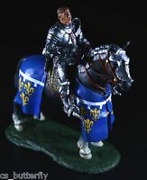 Soldier Mounted Knight with Lance miniature Rider 1/32 Metal Painted Tin Toy