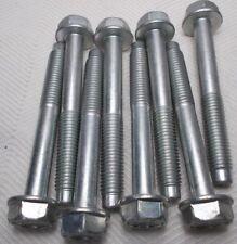M10 10mm X 1.50 Coarse X 75mm Thread Hex Flange Head Bolt Lot Of 8 Bolts