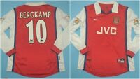 Arsenal 1998/1999 Football Shirt Home Gunners JVC Vintage BERGKAMP Long Sleeve