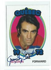 Jean-Guy Gendron Signed 2009/10 1972 Year In Hockey Card #134