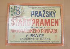 More details for  staropramen metal beer sign prazsky czech republic man cave new
