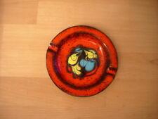 70er Jahre Emaille Aschenbecher mid century ashtray rot Kupfer hochwertig Retro