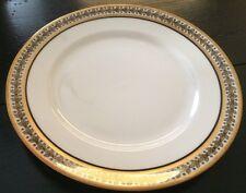 Vintage, Limoges, France, L S & S, Black & Gold Rimmed Luncheon Plate
