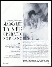 1960 Margaret Tynes photo opera recital tour booking trade print ad