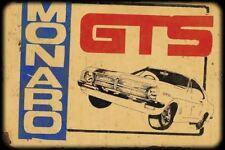 Monaro  GTS  metal sign 20 x 30 cm free postage