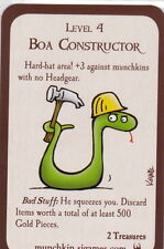 Munchkin New Promo Door Card Boa Constructor Level 4 Legends Pathfinder Zombies