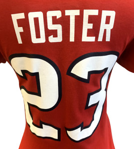 Nike Women's Houston Texans Arian Foster #23 Red Slim Fit Shirt Size Small