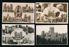 Somerset WELLS Cathedral x7 collection c1900/40s RP PPCs