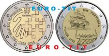 2  EURO PORTUGAL  2 PIECES  X NEUVES  CROIX ROUGE  /  TIMOR   2015    disponible