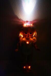 """VTG 1991 Rare Starbrite Sparkles Doll PJ Sparkles Sister Line Works 15"""""""
